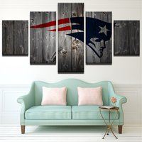 5 Pcs New England Patriots Rugby Wall Picture Home Decor Printed Canvas Painting