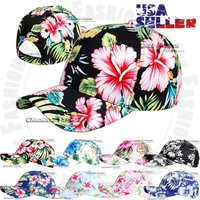 hawaiian-snapback-baseball-cap-tropical-curved-bill-adjustable-hawaii-floral-hat