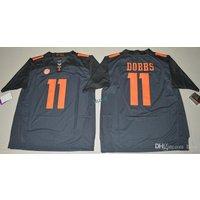 New Joshua Dobbs #11 Tennessee Volunteers Stitched Gray Jersey Men Size M-3xl