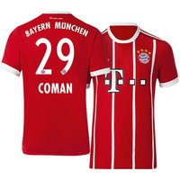 All New Kingsley Coman #29 Bayern Munchen Home 2017-2018 Men Soccer Jersey