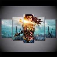 5 Pcs Wonder Woman Gal Gadot Movie Wall Picture Home Decor Canvas Painting