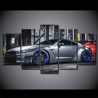 5 Pcs NISSAN GTR R35 5 Car Home Decor Wall Picture Printed Canvas Painting