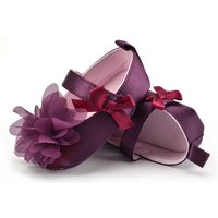 Flowers Purple Baby Soft Toddler Shoes Infant Girls Shoes WS431
