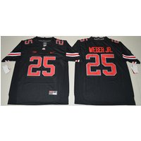 25 Mike Weber - Rugby Stitched Limited Ncaa Ohio State Buckeyes Jersey S-2xl