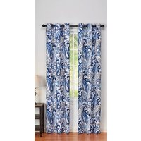 grommet-window-curtain-panel-54-x-84-blue-white-floral-paisley-new