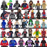 SA set white Marvel DC Super Hero Figures 200+ Avengers minifigure blocks lego C