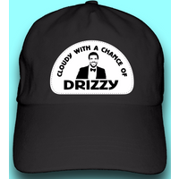 cloudy with a chance of drizzy drake dad hat baseball cap black or white