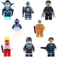Wolverine Captain Punisher Night Wing Space SpiderMan 8pcs Lego Minifigure Set