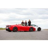 Ferrari And Lamborghini Driving Blast Picture