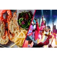Stalls or Dress Circle Theatre Show and Dining for Two at Steak and Lobster - Musical Theatre Gifts