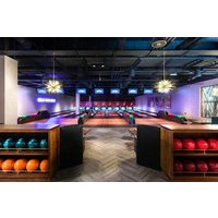 All Star Lanes One Game of Bowling and a Two Course Meal with a Cocktail for Two - Bowling Gifts