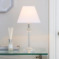 image-Square Clear Table Lamp White