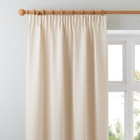 image-Omega Natural Pencil Pleat Curtains Light Brown / Natural
