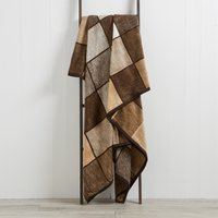 image-Thermosoft Checked 150cm x 200cm Blanket Chocolate Brown