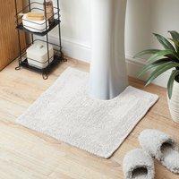 Super Soft Reversible White Pedestal Mat Green