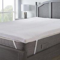 Temperature regulating memory foam mattress topper white