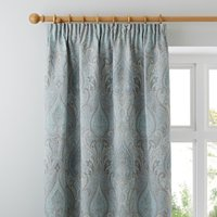 Novello Duck-Egg Pencil Pleat Curtains Duck Egg Blue