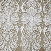 Macrame Cafe Net Tab Top Curtain Fabric White