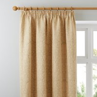 Kensington Gold Pencil Pleat Curtains Gold