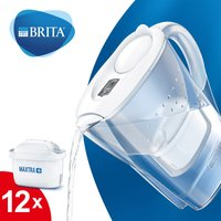 BRITA Marella Water Filter Jug Annual Pack - White White