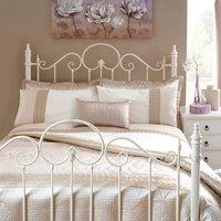 image-Circles Latte Bedspread Latte Brown