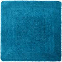 image-Super Soft Reversible Teal Square Bath Mat Green