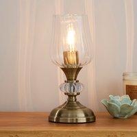 image-Hurricane Antique Brass Table Lamp Bronze