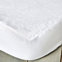 image-Staydrynights Terry Towelling Waterproof Mattress Protector White