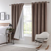 Thermal Eyelet Curtain Linings Cream