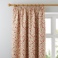 Heritage Glava Terracotta Pencil Pleat Curtains Terracotta