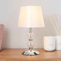 image-Rosie Glass Ball Table Lamp Cream