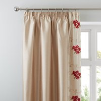 Juliet Red Thermal Pencil Pleat Curtains Red / Brown