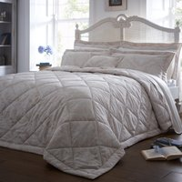 Dorma Aveline Natural Quilted Throw Light Brown