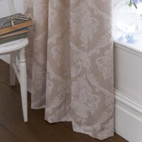Dorma Aveline Natural Pencil Pleat Curtains Light Brown / Natural