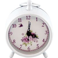 image-Plum Pudding Mantel Clock White