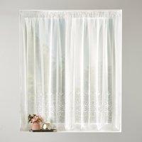 Jubilee Net Slot Top Curtain Fabric White