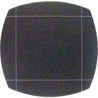 Black Pausa Set Of 4 Placemats Black / White