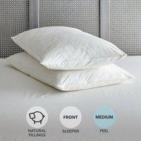 Duck Feather Medium-Support Pillow Pair White