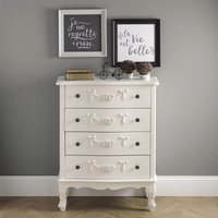 image-Toulouse Ivory Wide 4 Drawer Chest White