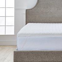Dorma tencel blend memory foam mattress topper white