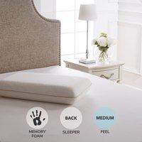 Dorma Tencel Blend Memory Foam Traditional Medium-Support Pillow White