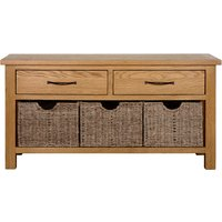 Sidmouth Oak Effect Storage Bench Light Brown / Natural