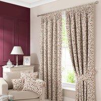 Heritage Glava Damson Pencil Pleat Curtains Cream / Purple