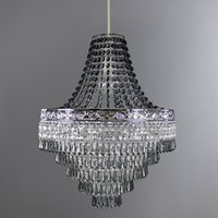 image-Blenheim Smoked Jewels Chandelier Easy Fit Pendant Charcoal