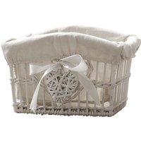 image-White Willow Small Basket White