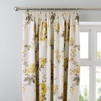 Windermere Yellow Thermal Pencil Pleat Curtains Lemon Yellow