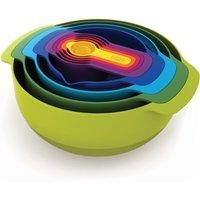 Joseph Joseph Nest Plus 9 Mixing Bowl Set Green, Blue and Yellow