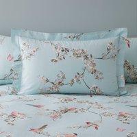 image-Beautiful Birds Duck-Egg Oxford Pillowcase Duck Egg Blue