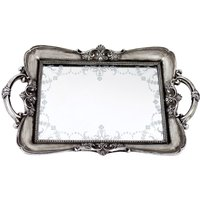image-Maison Chic Venetian Mirror Tray Silver