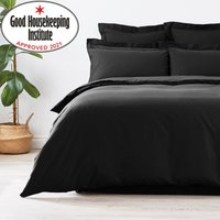 image-Non Iron Plain Dye Black Duvet Cover Black